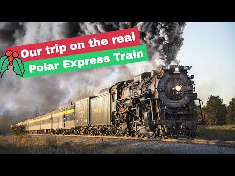 Our Trip On The REAL Polar Express | MI Steam Railroading Institute Trip To Ashley Christmas Village