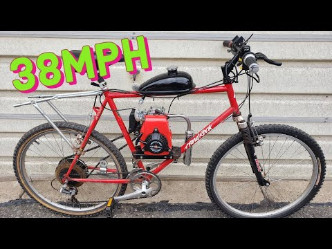 $190 Amazon 4-Stroke Bicycle Engine Kit Install/First Ride thumbnail