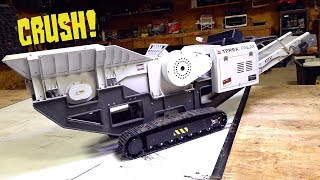 REPAIR the MINI MOBILE ROCK CRUSHER!  TEREX FINLAY 1/14 scale - YouTube GOLD FIXES  | RC ADVENTURES