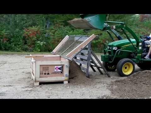 John Deere 2032R - DIY Screening Dirt or Loam to Remove Rocks