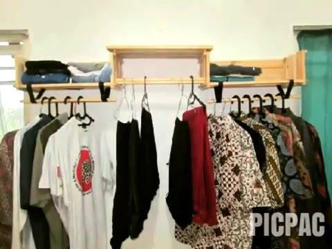 A-U crate: added clothes line (gantungan baju)