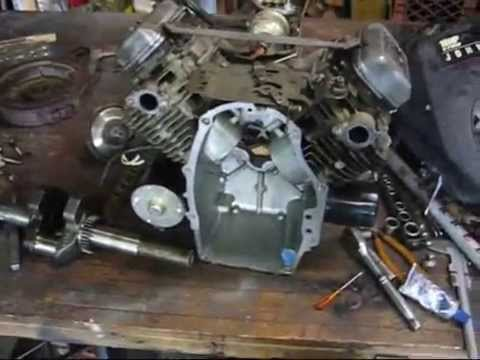 Converting Vertical 18hp Kawasaki V twin to Horizontal