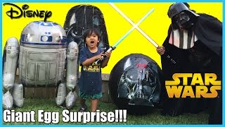 GIANT EGG SURPRISE OPENING Disney Toys Star Wars