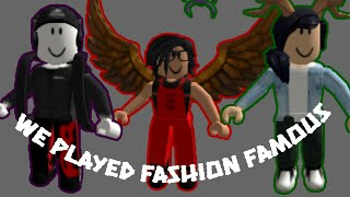 Playing Roblox With My Cousin's (Fashion Famous)