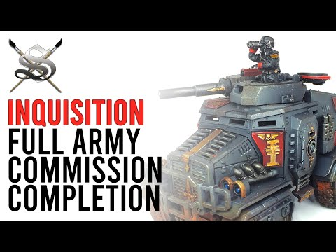 Commission Update: Inquisition Army Commission Siege Studios