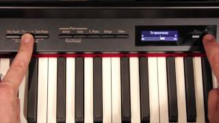 Roland Digital Piano — Audio Transpose