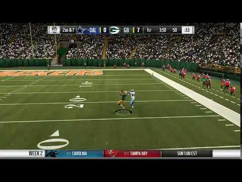 Madden 19 - Dallas Cowboys at Green Bay Packers - Interception Clip