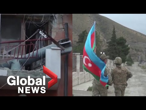 Nagorno-Karabakh conflict: Armenia says Azerbaijan attacking civilian areas with cluster bombs