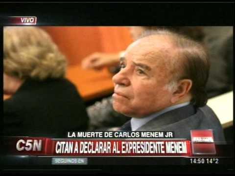 C5N - JUSTICIA: CITAN A DECLARAR AL EXPRESIDENTE CARLOS MENEM