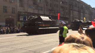 Moscow Victory Parade vehicle returning 09 May 2014 (Tor-M2U SAM system)