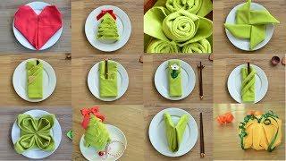 12 Fancy Napkin Folds - Easy Napkin Folding Tutorials - Year in Review - Episode 13