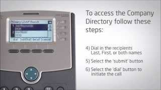 Cisco IP Phone SPA504G - Searching the Company Directory - Video Training
