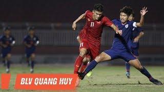 Highlights   U18 Việt Nam - U18 Thái Lan   Cửa khó cho thầy trò Hoàng Anh Tuấn   BLV Quang Huy