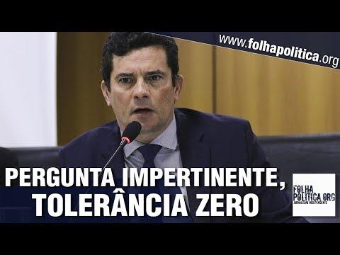 Sergio Moro deixa jornalista atordoado ao não dar resposta a pergunta impertinente - Gov. Bolsonaro
