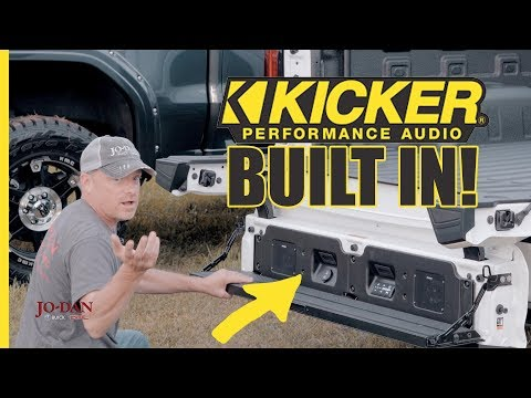 Kicker Audio System In The GMC Multi-Pro Tailgate [overview]
