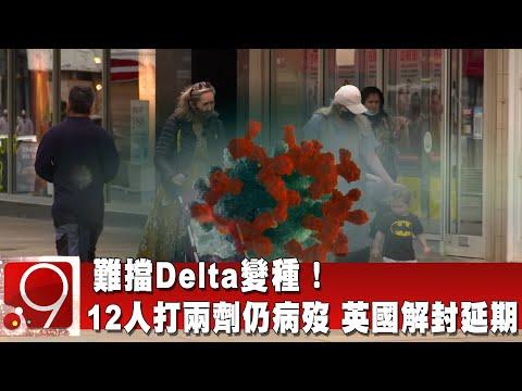 難擋Delta變種! 12人打兩劑仍病歿 英國解封延期@9點換日線