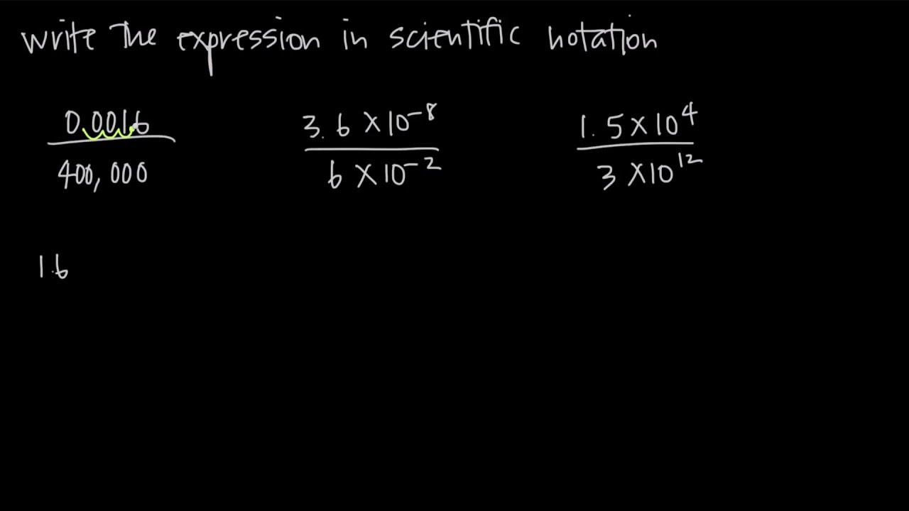 HOW TO EASILY DIVIDE SCIENTIFIC NOTATION (KristaKingMath)