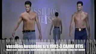vassilios kostetsos s/s 1992-3  guest star actress supermodel Carre Otis-Karen Mulder part 3