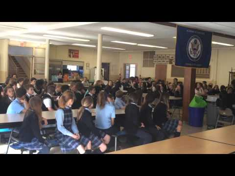 "Mary Flanagan's fourth grade students recite Martin Luther King Junior's ""I Have A Dream Speech."""