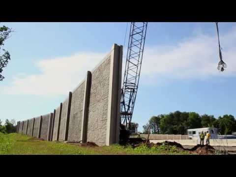 Precast Concrete Soundwalls | Highway Sound Barriers