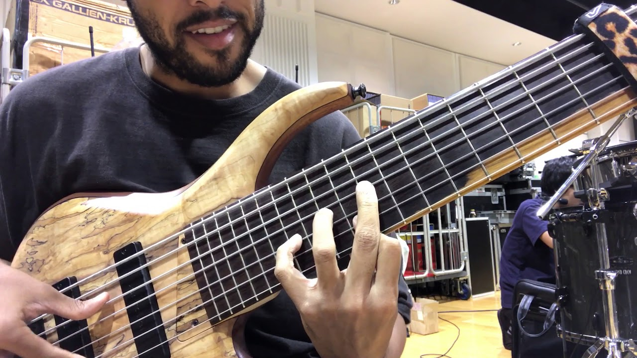 7 String Bass How To Play The Chords To Space Food Youtube