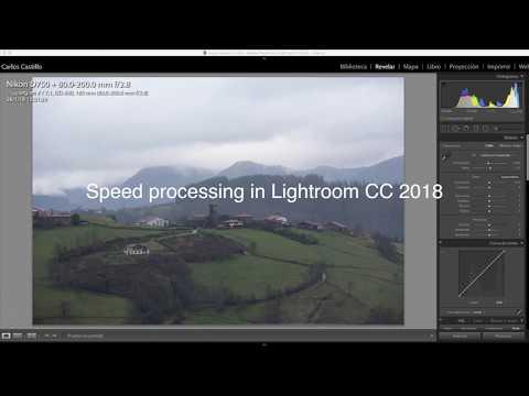 Speed Processing x1 in adobe lightroom CC 2018
