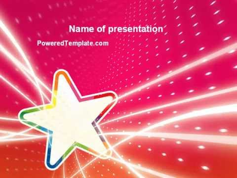 Disco Star Powerpoint Template By Poweredtemplate Youtube
