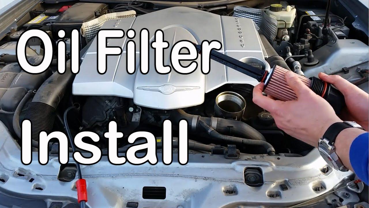 small resolution of oil filter change chrysler crossfire v6 3 2l mercedes benz slk clk r170 amg srt replacement youtube