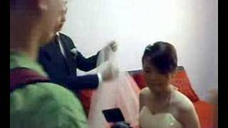 Xiaobei wedding 3 - Groom removes the veil
