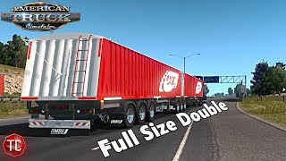 American Truck Simulator Mods: NEW Full Size DOUBLE Corn Trailer!