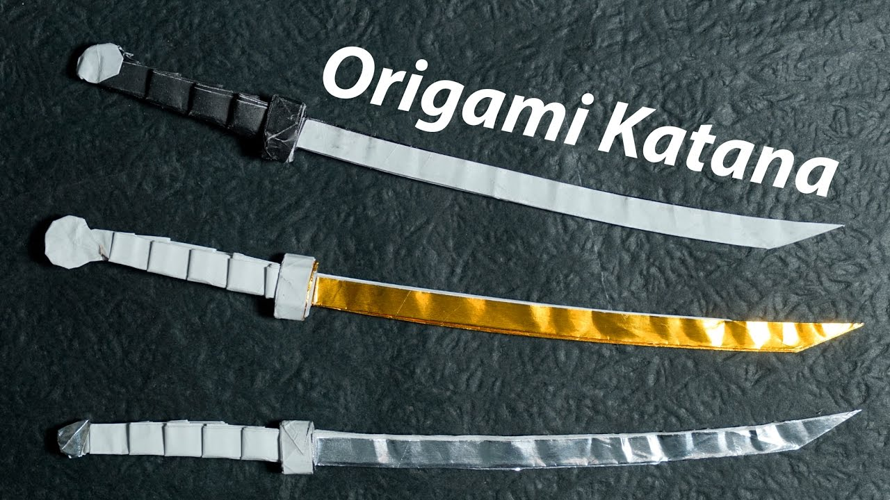 how to make a katana out of paper