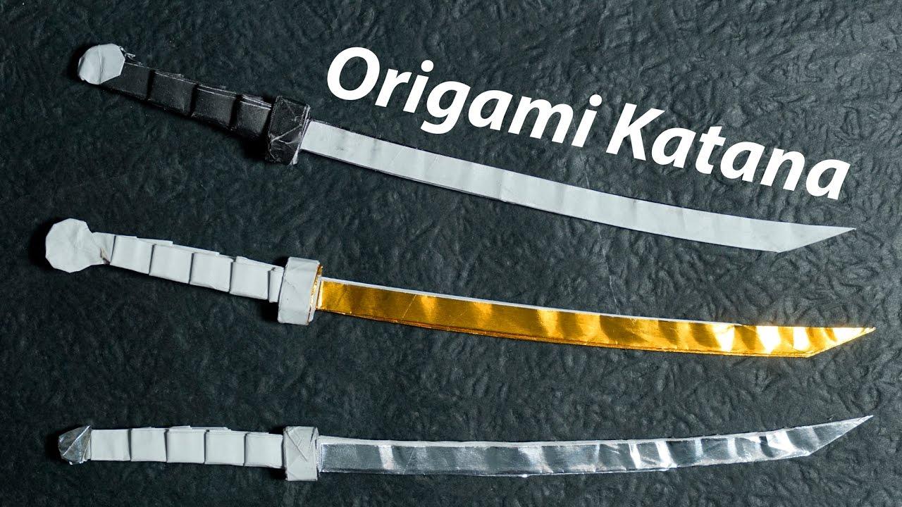 Paper Sword Origami Katana 40 Tutorial Diy Henry Phm Youtube