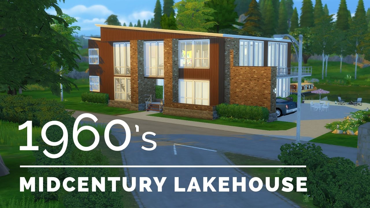 Sims 4 decade build series 1960s midcentury lakehouse