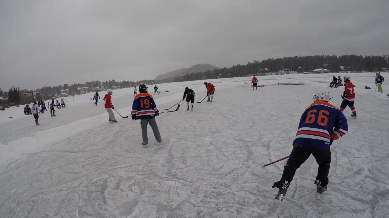 Can Am Lake Placid Pond Hockey Tournament 2017 Youtube