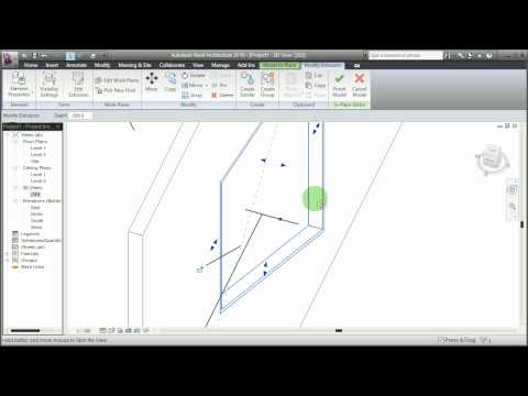 Revit - Custom in-place window with materials