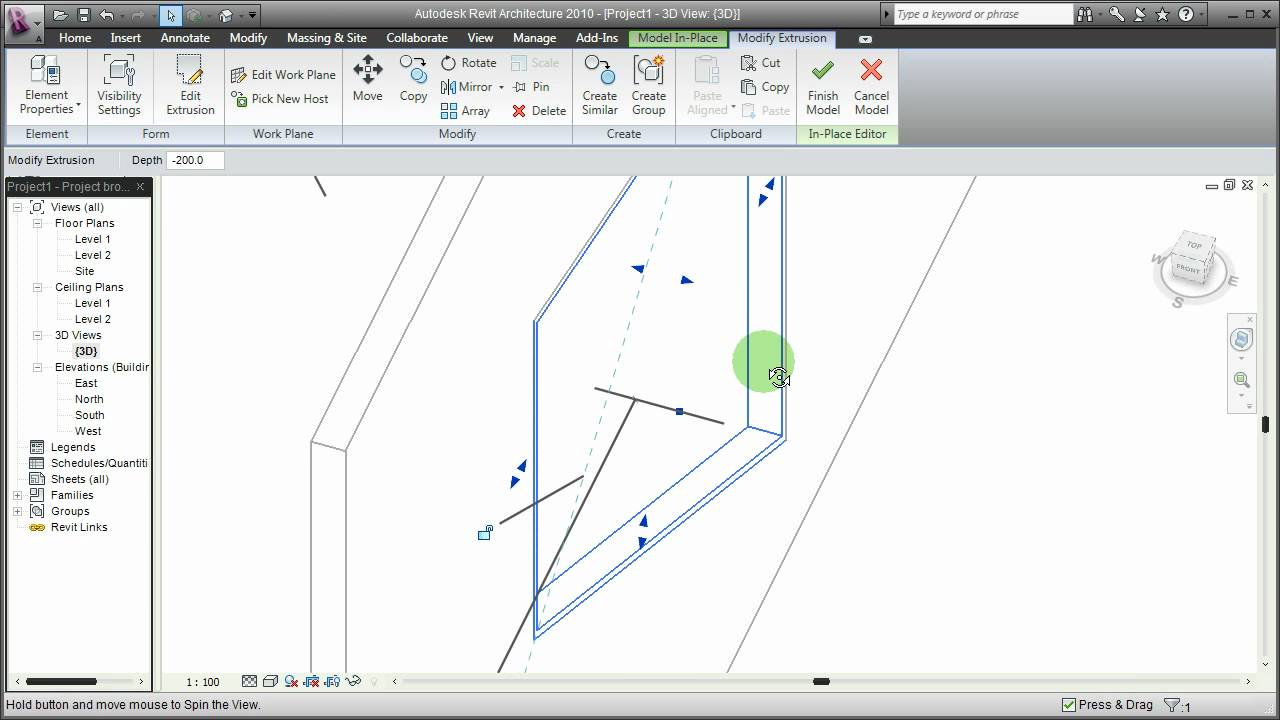 how to make windows which open out on revit