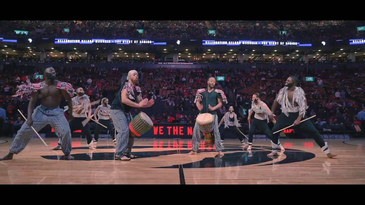 GIANTS OF AFRICA Halftime Esie Mensah Creations - ZAYO  Houston vs Raptors