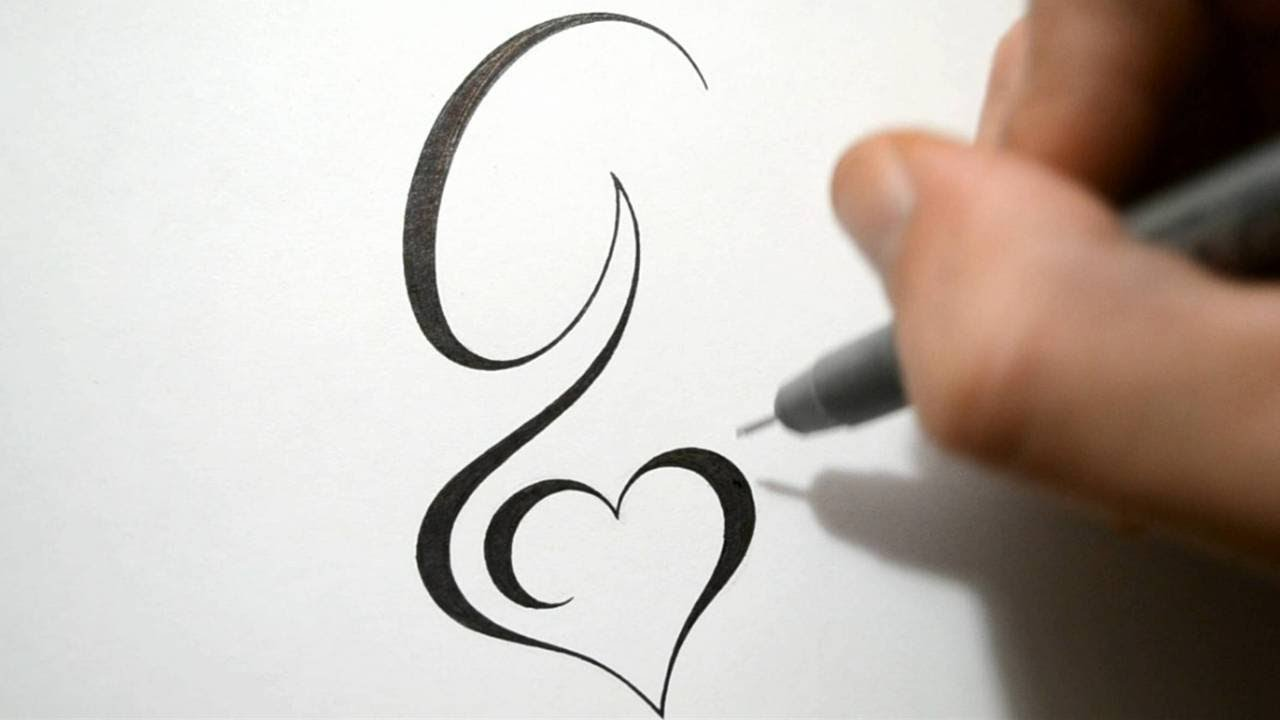 Designing Simple Initial G Tattoo Design Calligraphy Style