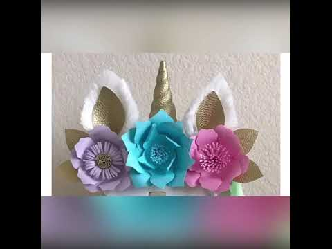 Ideas para decoraci n de unicornio youtube for Decoracion para pared unicornio