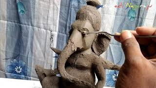 Video-Search for clay ganesh sculpting
