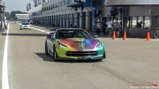 Chevrolet Corvette C7 w/ Capristo Exhaust - LOUD Accelerations & Revs !
