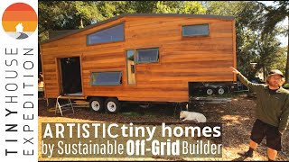 Two Stunning, Artistic Tiny Houses By Off Grid Builder