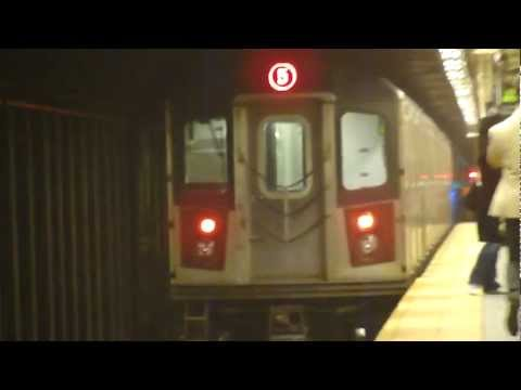 IRT Lexington Ave Line: R142 5 Train at Wall St-Broadway (Bronx Bound)