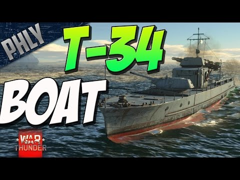 T-34 ON A BOAT - Pr 1124 Russian Boat (War Thunder Naval Forces Gameplay)