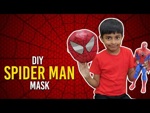 How to make New Spider-man Mask with Cardboard | Simple DIY Spider Man Mask