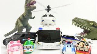 헬로카봇 K 캅스와 친구들 공룡 대작전 (로보카 폴리, 아이언맨 출연) Hello Carbot & Friends - Operation Dinosaurs K-Cops和朋友们恐龍大作戰
