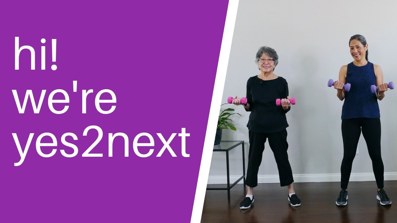 yes2next, exercise workouts for seniors, beginner exercisers - YouTube