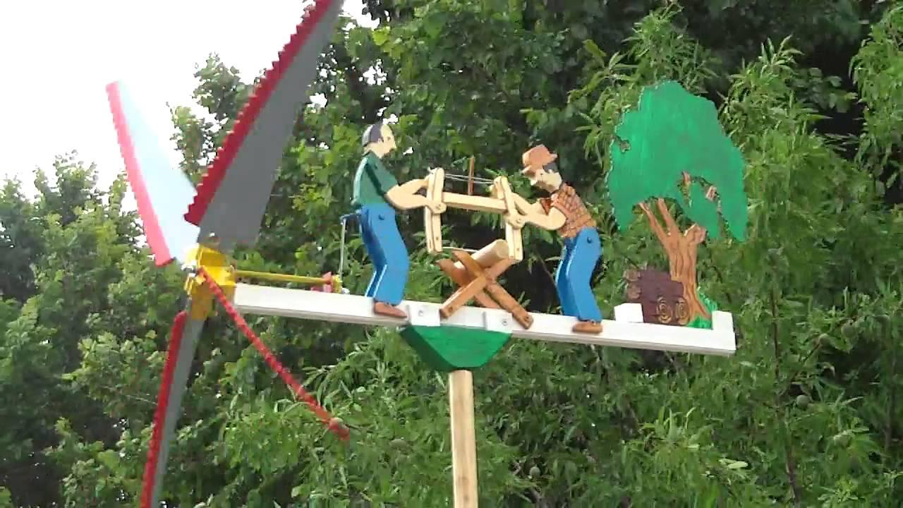 Molino de viento veleta serradores youtube for Molinos de viento para jardin
