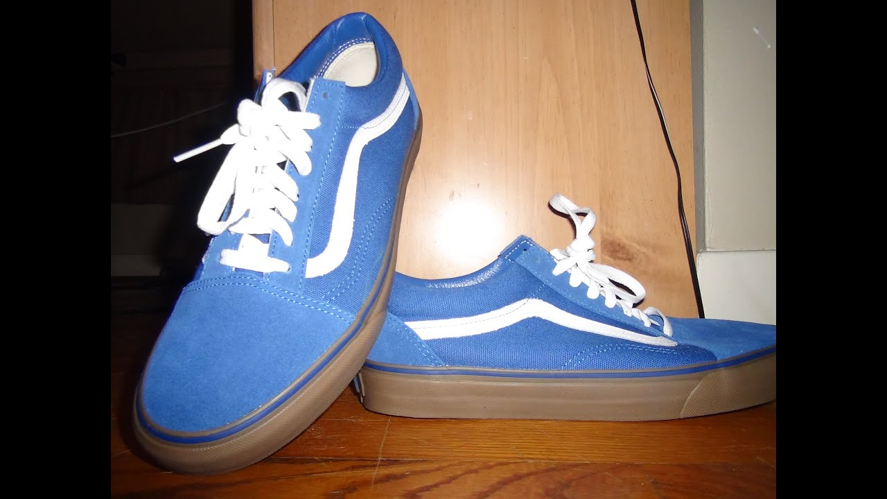 vans old skool blue gum sole