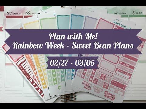Plan with Me - Rainbow Week 02/27 - 03/05 (Sweet Bean Plans)